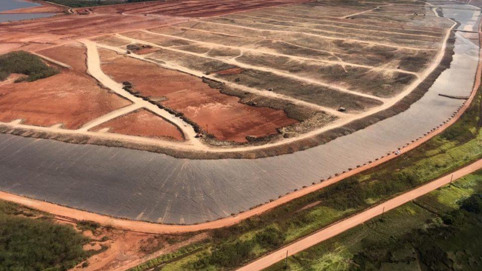 Vue aérienne solution de drainage